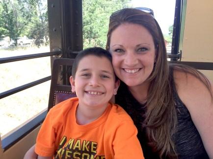 Jennifer Bourn and Carter Bourn Railtown Train Ride
