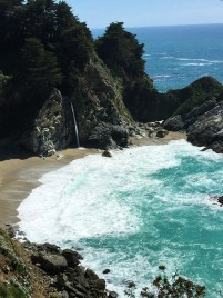 McWay Falls Empties Onto The Beach In McWay Cove