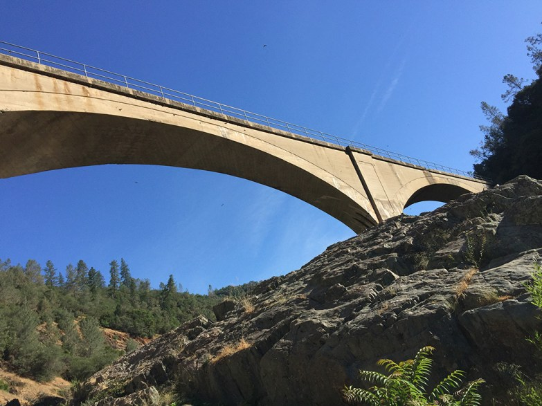No Hands Bridge on the Canyon Creek Trail