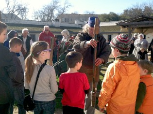 Sutter's Fort Cannon Demonstration During A Living History Day