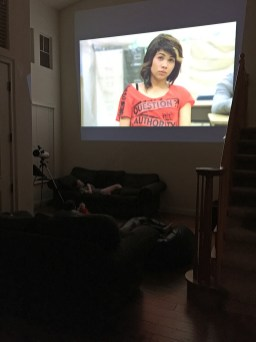 Empty Wall Turns Into A Movie Screen