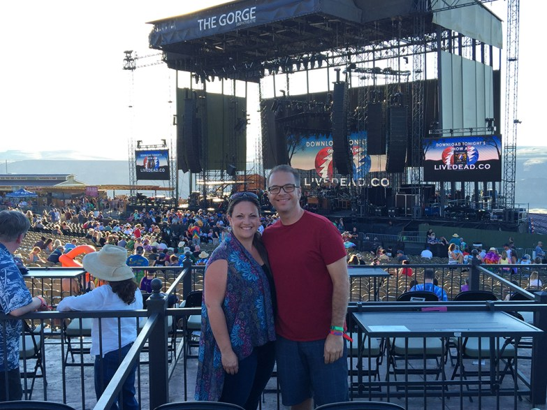 Brian and Jennifer Bourn at Dead and Company at The Gorge Amphitheater