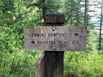 Lemmon's Point Wahkeena Trail Sign