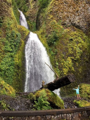 Wahkeena Falls Is A 242 Foot Waterfall in the Columbia River Gorge