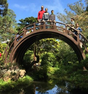 Arch Drum Bridge at The Japanese Tea Garden in San Francisco