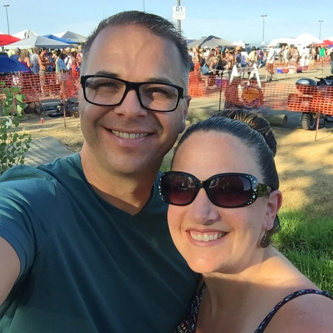 Brian and Jennifer Bourn at Dead And Company's Wheatland, California Summer Tour Stop