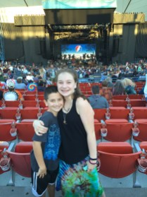 Natalie and Carter Bourn at Dead and Company Shoreline Concert