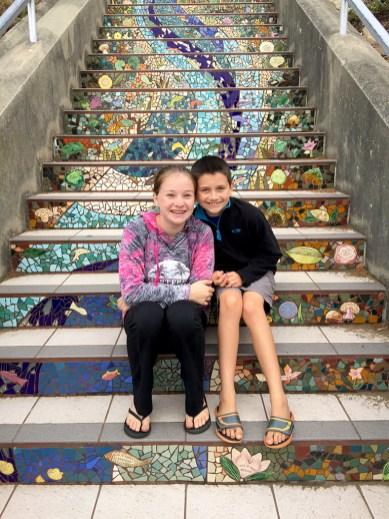 Moraga Tiled Steps in San Francisco