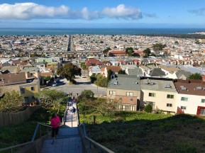 View of San Francisco From The Top Of The 16th Avenue Tiled Steps