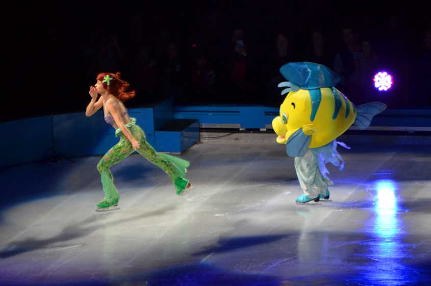 Ariel and Flounder in The Little Mermaid For Disney On Ice Passport to Adventure