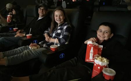 Movie Theater in Sacramento with Comfy Oversized Recliners With Legrests