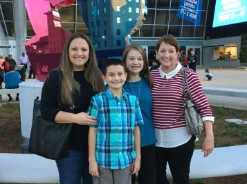 Jennifer Bourn, Carter Bourn, Natalie Bourn, and Linda Brannan