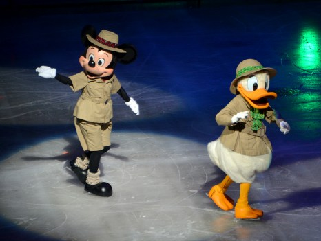 Mickey and Donald in Disney on Ice Passport To Adventure
