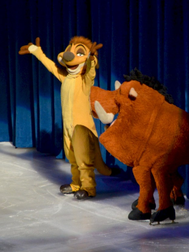 Timon and Pumba Simba and Nala Simba and Pumba from The Lion King in Disney On Ice