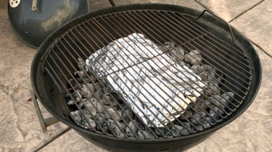 Add Wood Chip Packet On Top Of The Hot Charcoal