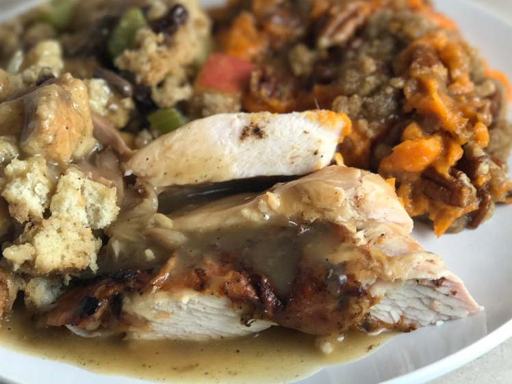 Barbecue Turkey for Thanksgiving and Christmas Dinner