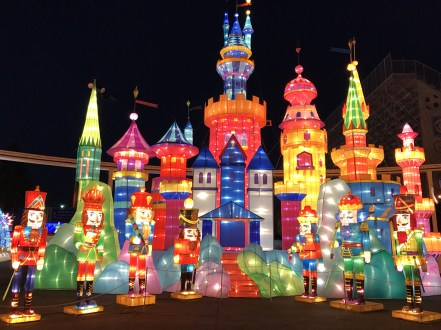 Castle Christmas Lights Display in Sacramento