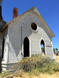Old Abandoned Methodist Church in Grass Valley, Oregon
