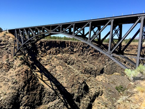 Trunk Railroad Bridge crossing Crooked River Canyon in Oregon