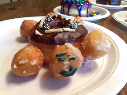 Turtle Doughnut with Donut Holes