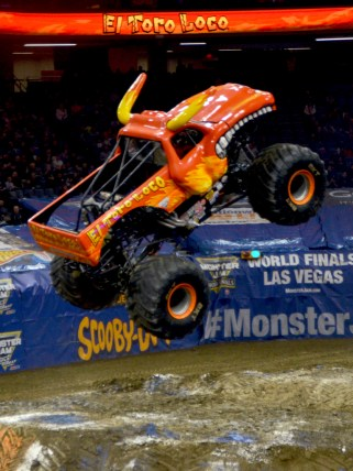 El Torro Loco Monster Jam Monster Truck Jumping In The Air
