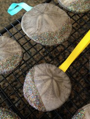 Use ModPodge To Make Glitter Sand Dollar Ornaments