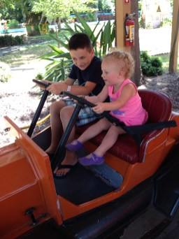 Kids Drive Cars at Funderland in Land Park