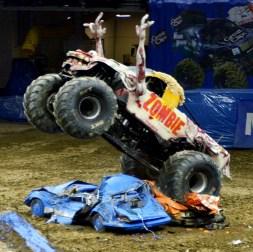 Zombie Monster Truck Crushing Cars