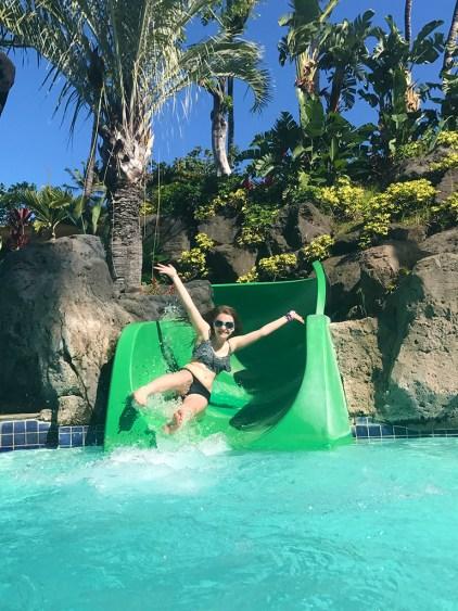 175 Foot Water SLide at the Hilton Waikoloa Village Resort