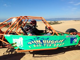 Driving Dune Buggies at Pismo Beach Sand Dunes in California