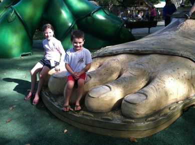 Jack and The Beanstalk Slide and Giant's Foot at Fairytale Town
