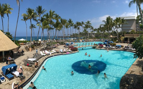Kona Pool Near the Orchid Market at Hilton Waikoloa Village Resort