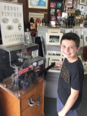 Carter Found a Penny Machine at Royal Kona
