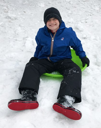Carter Bourn Sledding