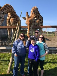 Bourn Family Feeding Giraffes at B Bryan Preserve
