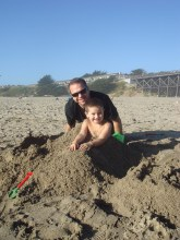 Brian and Carter Bourn at Pudding Creek Beach