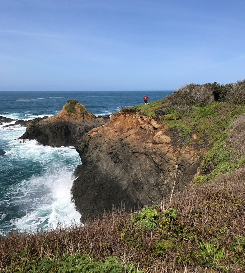 Jennifer Bourn on The Headlands CLiffs at Russian Gulch State Park