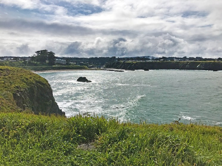 View of Noyo Harbor from the Noyo Headlands Section of the California Coastal Trail
