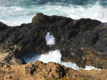 Low Sea Arch And Blow Hole
