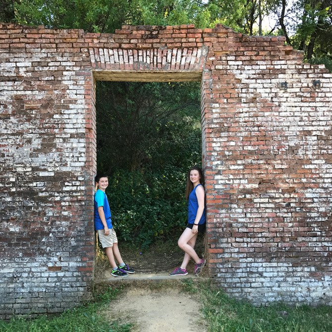 Natalie and Carter Bourn at Shasta State Historic Park