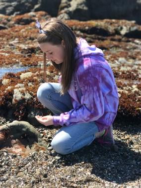 Natalie Sea Glass Hunting