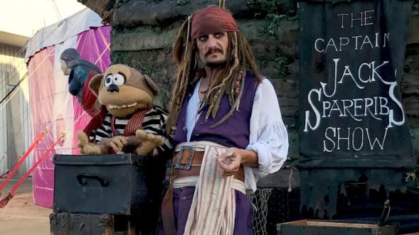 Captain Jack Spareribs And Maynard The Monkey