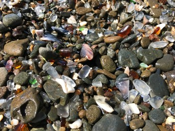 Rocks, Sea Shells, and Sea Glass along the Northern California Coastline