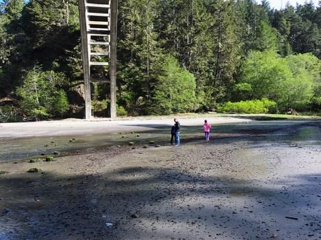 Russian Gulch Creek Empties Into A Narrow Bay at Russian Gulch State Park