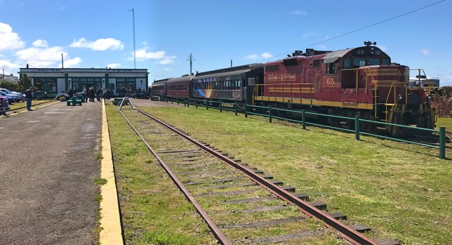 Skunk Train Depot in Fort Bragg