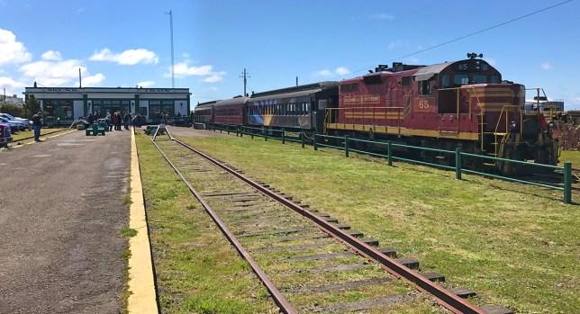 Skunk Train Depot in Fort Bragg