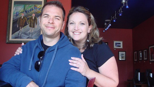Brian and Jennifer Bourn in Mendocino in 2010