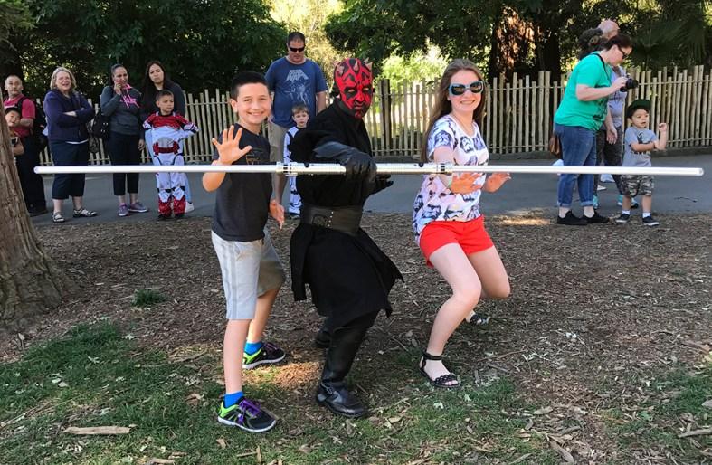 Darth Maul at Sacramento Zoo Star Wars Day