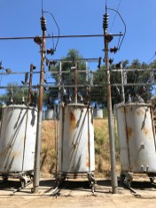 Electricity Transformers at the Folsom Powerhouse