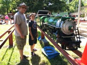 Jim Brannan and Grandson Carter Bourn at Hagen Park Train Meet